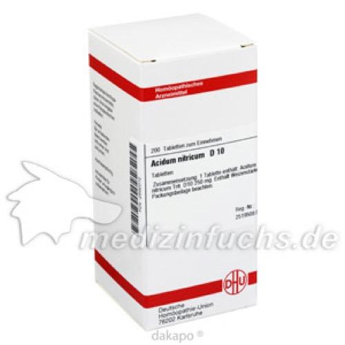 ACIDUM NITR D10, 200 ST, Dhu-Arzneimittel GmbH & Co. KG