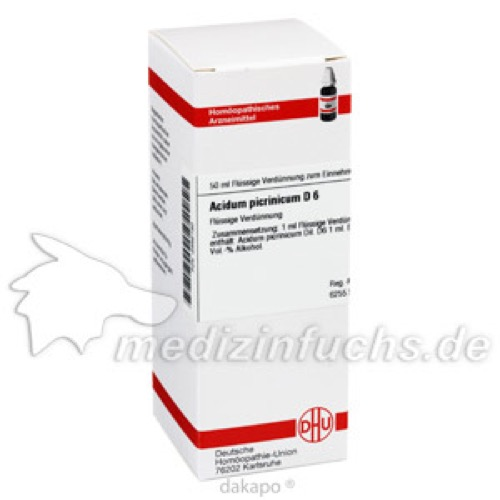 ACIDUM PICRINIC D 6, 50 ML, Dhu-Arzneimittel GmbH & Co. KG