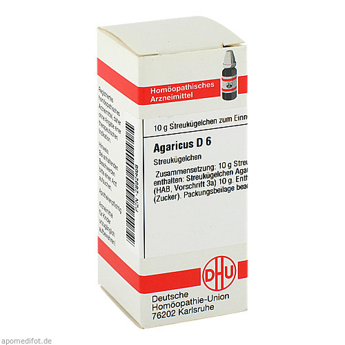 AGARICUS D 6 Globuli, 10 G, DHU-Arzneimittel GmbH & Co. KG