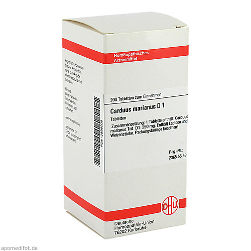 CARDUUS MAR D 1, 200 ST, Dhu-Arzneimittel GmbH & Co. KG