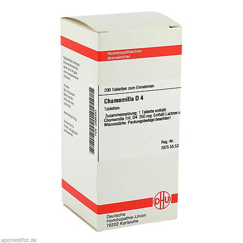 CHAMOMILLA D 4, 200 ST, Dhu-Arzneimittel GmbH & Co. KG