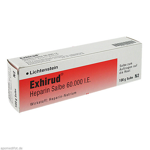 Exhirud Heparin Salbe 60.000 I.E., 100 G, Sanofi-Aventis Deutschland GmbH GB Selbstmedikation /Consumer-Care