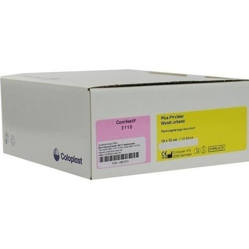 Comfeel Plus Flexibler Wundverband 10x10cm 3110, 10 ST, Bios Medical Services GmbH