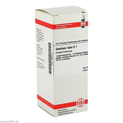 GENTIANA LUTEA D 1, 50 ML, Dhu-Arzneimittel GmbH & Co. KG