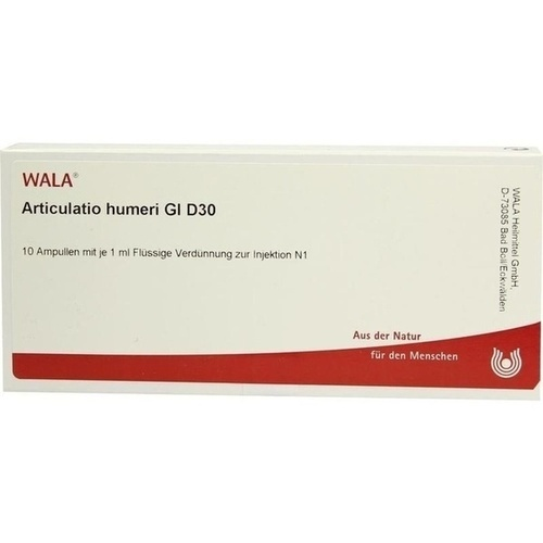 ARTICULATIO HUMERI GL D30, 10X1 ML, Wala Heilmittel GmbH