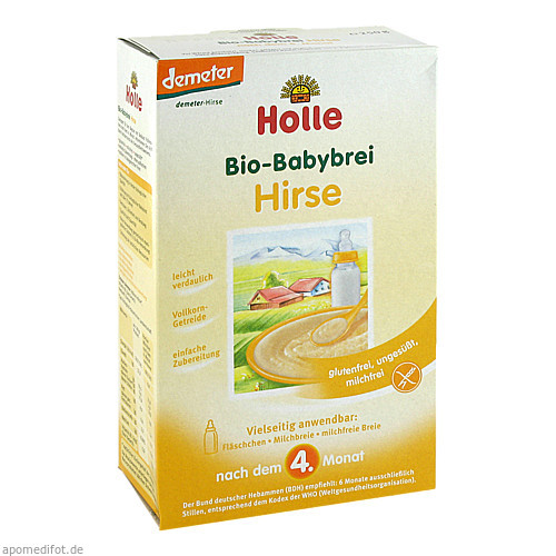 Holle Bio-Babybrei Hirse, 250 G, Holle baby food AG