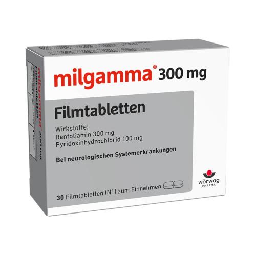 milgamma 300mg Filmtabletten, 30 ST, Wörwag Pharma GmbH & Co. KG