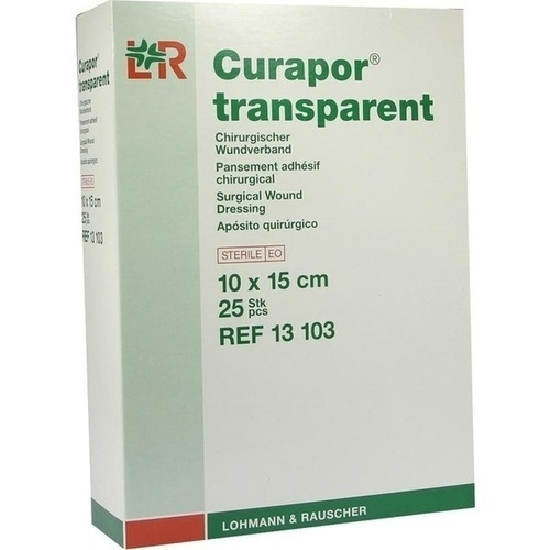 Curapor transparent Wundverband steril 10x15cm, 25 ST, Lohmann & Rauscher GmbH & Co. KG