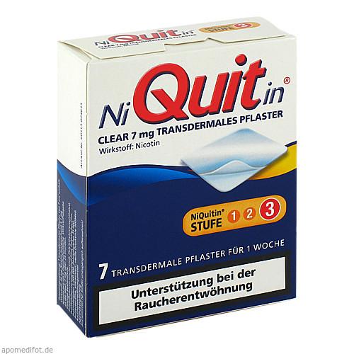 NiQuitin Clear 7mg, 7 ST, Omega Pharma Deutschland GmbH