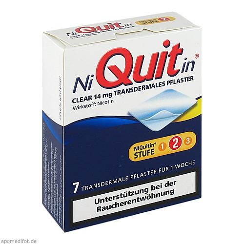 NiQuitin Clear 14mg, 7 ST, Omega Pharma Deutschland GmbH