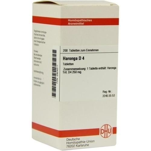 HARONGA D 4 Tabletten, 200 ST, DHU-Arzneimittel GmbH & Co. KG