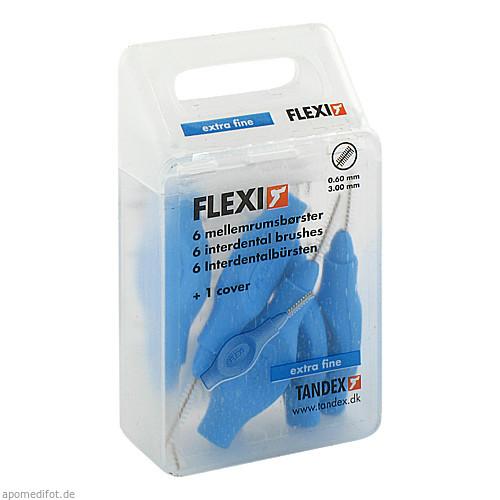 TANDEX FLEXI ID Bürsten Aqua (Blau) 0.6mm, 6 ST, Tandex GmbH