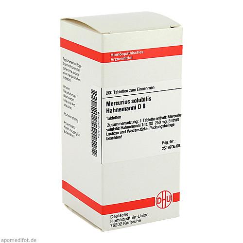MERCURIUS SOLUB HAHNEM D 8, 200 ST, Dhu-Arzneimittel GmbH & Co. KG