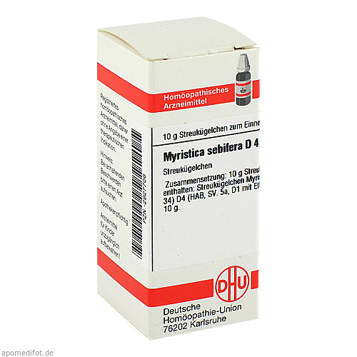 MYRISTICA SEBIF D 4, 10 G, Dhu-Arzneimittel GmbH & Co. KG