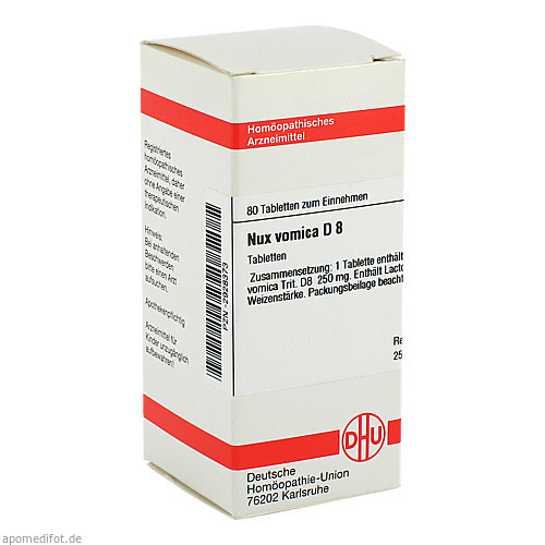 NUX VOMICA D 8, 80 ST, Dhu-Arzneimittel GmbH & Co. KG