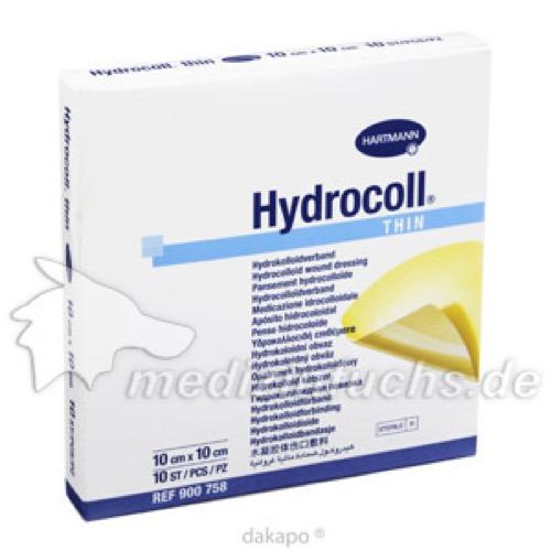 Hydrocoll Thin Wundverband 10x10cm, 10 ST, Bios Medical Services GmbH