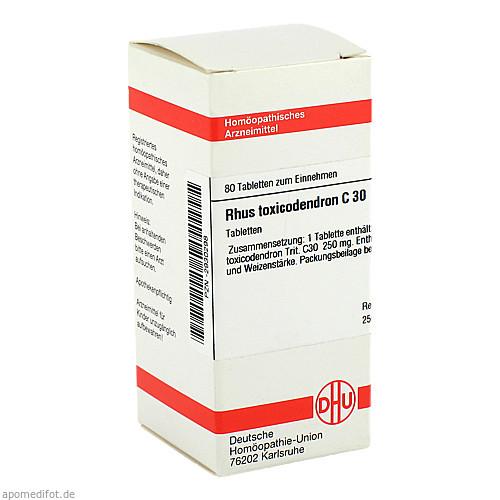 RHUS TOX C30, 80 ST, Dhu-Arzneimittel GmbH & Co. KG