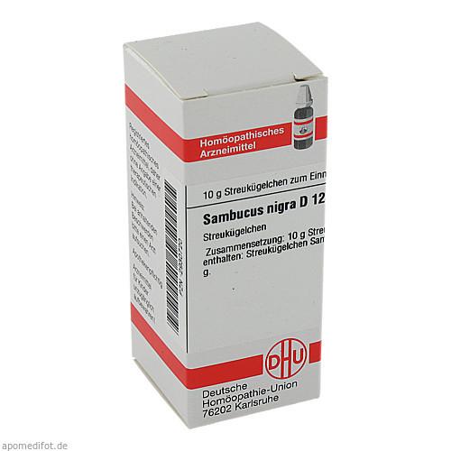 SAMBUCUS NIGRA D12, 10 G, Dhu-Arzneimittel GmbH & Co. KG