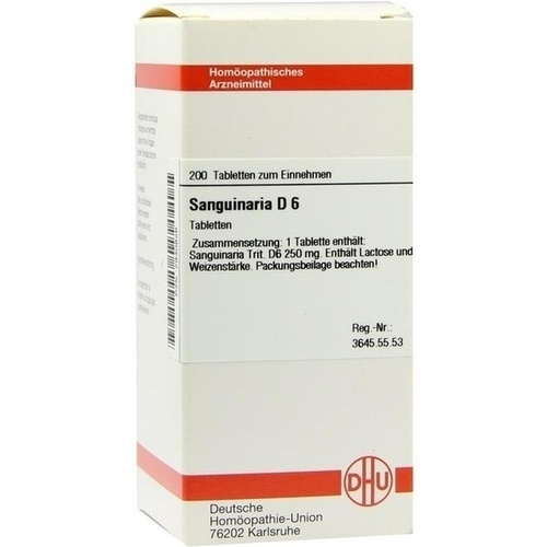 SANGUINARIA D 6, 200 ST, Dhu-Arzneimittel GmbH & Co. KG