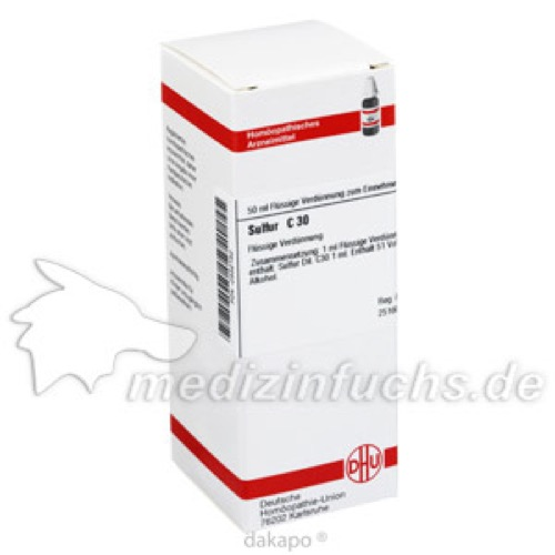 SULFUR C30, 50 ML, Dhu-Arzneimittel GmbH & Co. KG