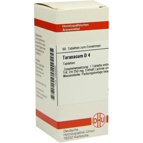TARAXACUM D 4, 80 ST, Dhu-Arzneimittel GmbH & Co. KG