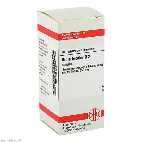 VIOLA TRICOLOR D 2, 80 ST, Dhu-Arzneimittel GmbH & Co. KG
