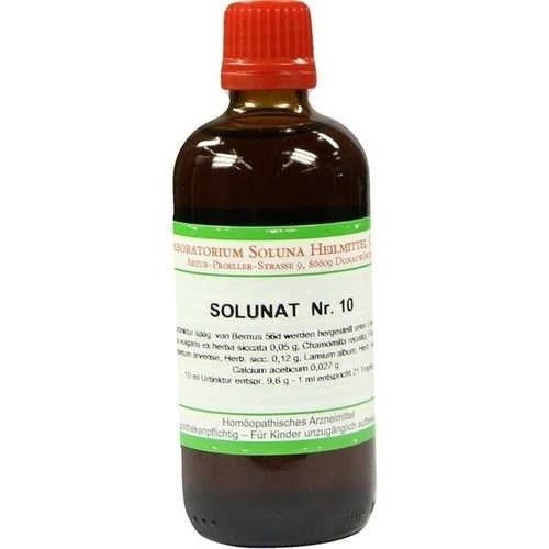Solunat Nr. 10, 100 ML, Laboratorium Soluna Heilmittel GmbH