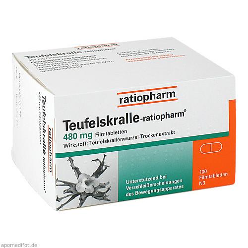 TEUFELSKRALLE-ratiopharm, 100 ST, ratiopharm GmbH