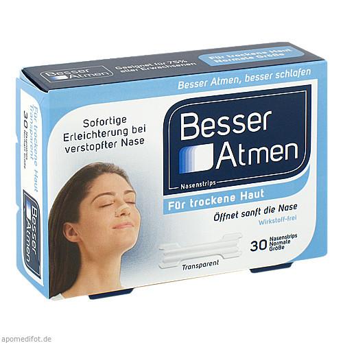 Besser Atmen Nasenstrips transparent normale Größe, 30 ST, GlaxoSmithKline Consumer Healthcare