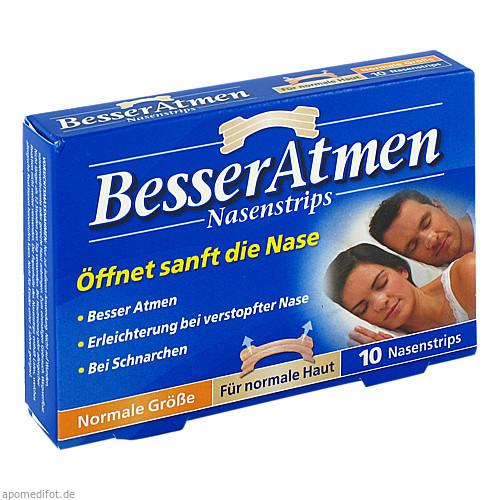 Besser Atmen Nasenstrips beige normale Größe, 10 ST, GlaxoSmithKline Consumer Healthcare GmbH & Co. KG