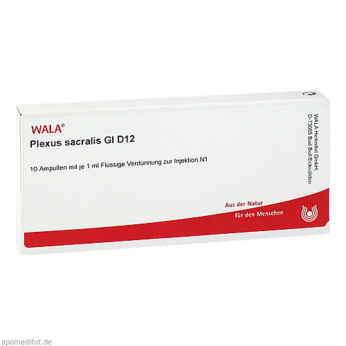 PLEXUS SACRALIS GL D12, 10X1 ML, Wala Heilmittel GmbH