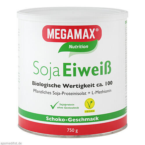 MEGAMAX Soja Eiweiss Schoko, 750 G, Megamax B.V.
