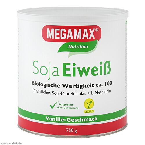 MEGAMAX Soja Eiweiss Vanille, 750 G, Megamax B.V.
