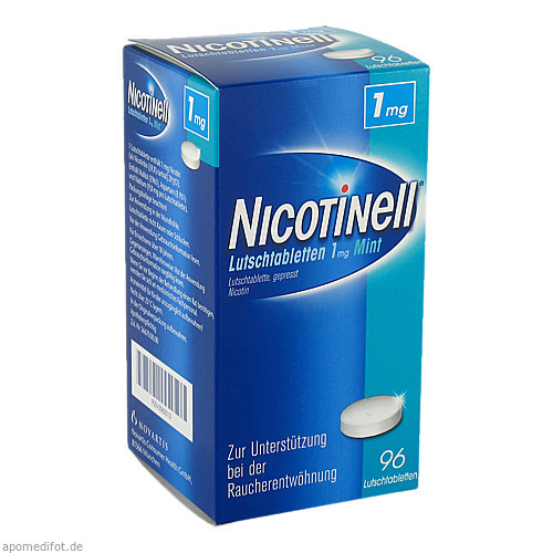 Nicotinell Lutschtabletten 1mg Mint, 96 ST, GlaxoSmithKline Consumer Healthcare GmbH & Co. KG
