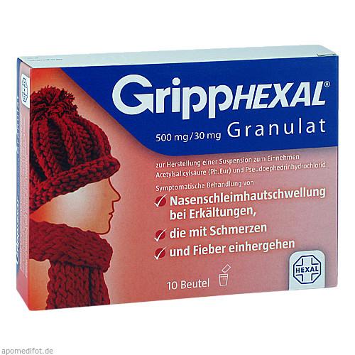 GRIPPHEXAL 500 mg/30 mg Gra.z.Herst.e.Susp.z.Einn., 10 ST, Hexal AG