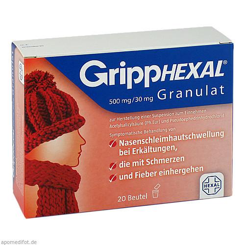 GRIPPHEXAL 500 mg/30 mg Gra.z.Herst.e.Susp.z.Einn., 20 ST, Hexal AG