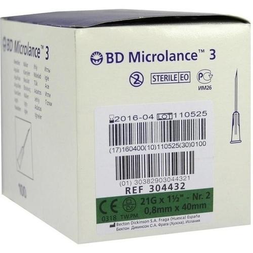 BD MICROLANCE 21G KAN 1 1/2, 100 ST, Becton Dickinson GmbH
