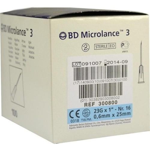 BD MICROLANCE 23G KAN 1, 100 ST, Becton Dickinson GmbH