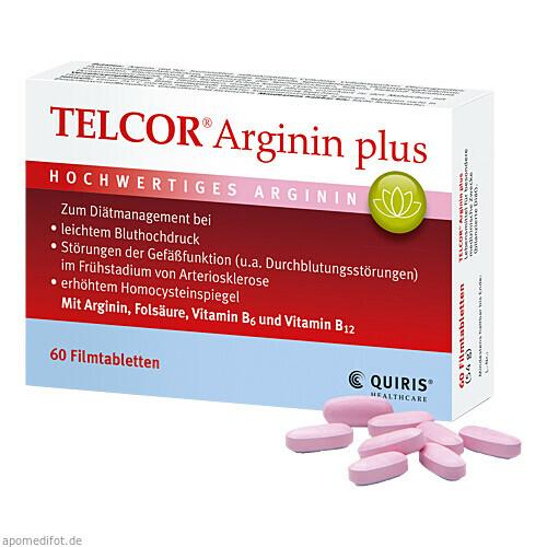 TELCOR Arginin plus Filmtabletten, 60 ST, Quiris Healthcare GmbH & Co. KG