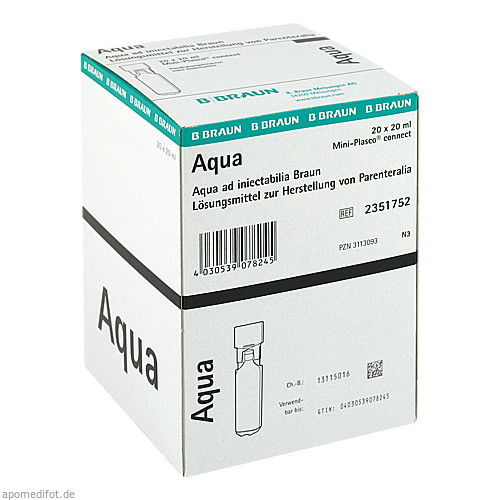 AQUA AD injectabilia Miniplasco connect Inj.-Lsg., 20X20 ML, B. Braun Melsungen AG