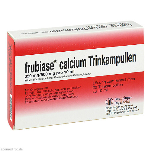 FRUBIASE CALCIUM T, 20 ST, Sanofi-Aventis Deutschland GmbH GB Selbstmedikation /Consumer-Care
