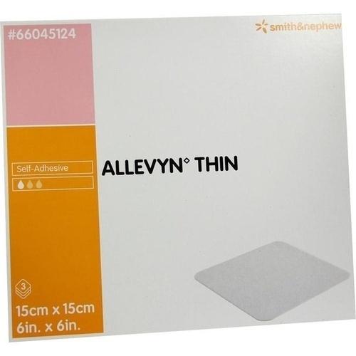 ALLEVYN Thin 15x15 cm dünne Wundauflage, 3 ST, Smith & Nephew GmbH