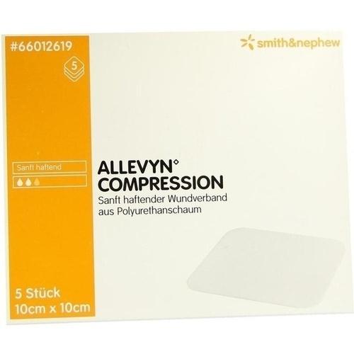 ALLEVYN COMPRESSION 10x10cm HYDROSELEKTIV WUNDAUFL, 5 ST, Smith & Nephew GmbH