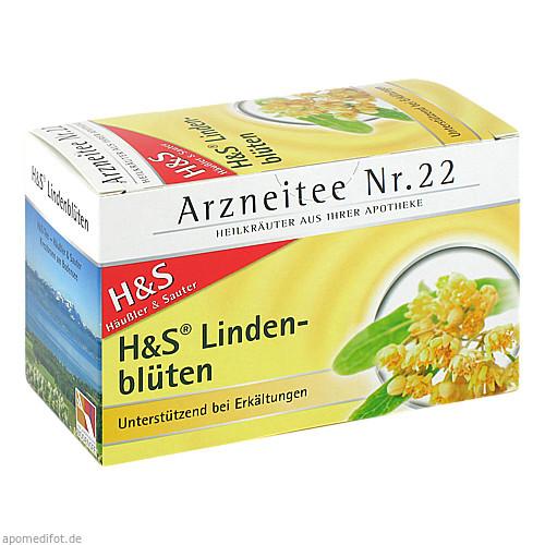 H&S Lindenblüten Tee Filterbeutel, 20 ST, H&S Tee - Gesellschaft mbH & Co.