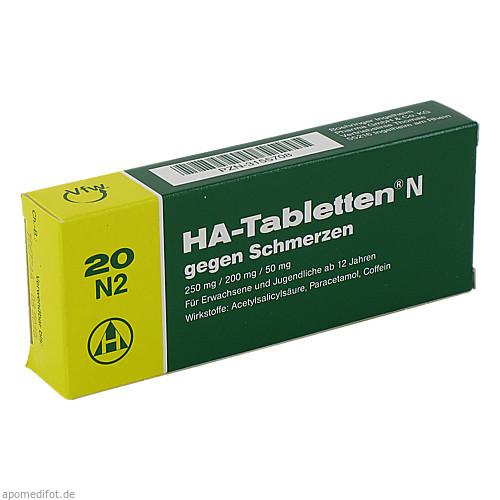 HA TABLETTEN N, 20 ST, Sanofi-Aventis Deutschland GmbH GB Selbstmedikation /Consumer-Care