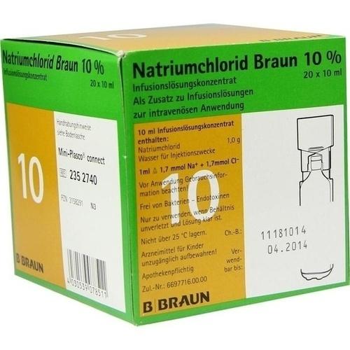 NATRIUMCHLORID 10% MPC Elektrolytkonzentrat, 20X10 ML, B. Braun Melsungen AG