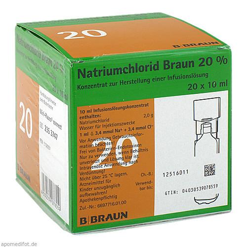 NATRIUMCHLORID 20% MPC Elektrolytkonzentrat, 20X10 ML, B. Braun Melsungen AG