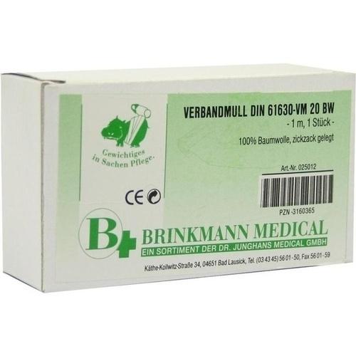 VERBANDMULL BRI ZICK 10X1, 1 ST, Brinkmann Medical Ein Unternehmen der Dr. Junghans Medical GmbH