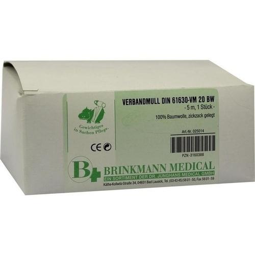 VERBANDMULL BRI ZICK 10X5, 1 ST, Brinkmann Medical Ein Unternehmen der Dr. Junghans Medical GmbH