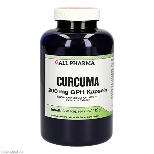 Curcuma 200mg Kapseln, 360 ST, Hecht-Pharma GmbH